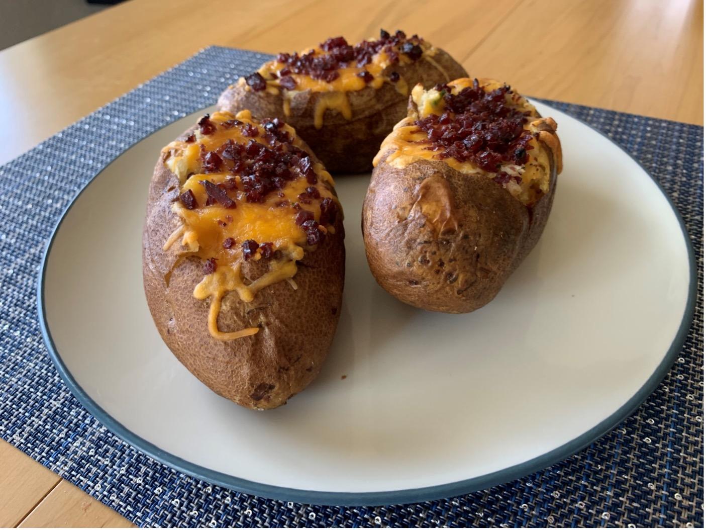 Twice Baked Jerky Potatoes
